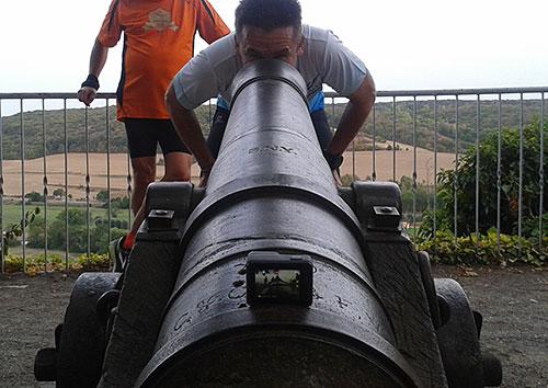 Foto-Shooting mit Kanone