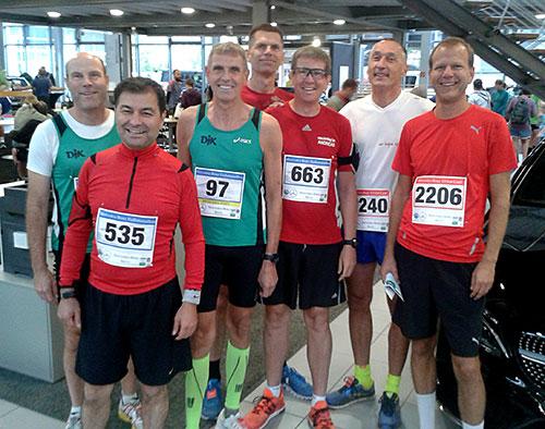 Halbmarathon-Läufer und 10-km-Läufer in Tegel