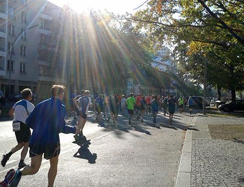 Läufer des Great 10k Berlin bei km 4,5