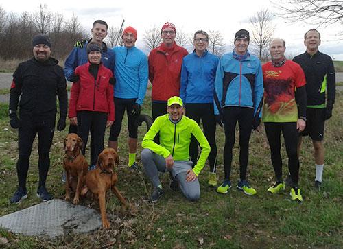 Läufer-Gruppenbild zum Jahresende 2018