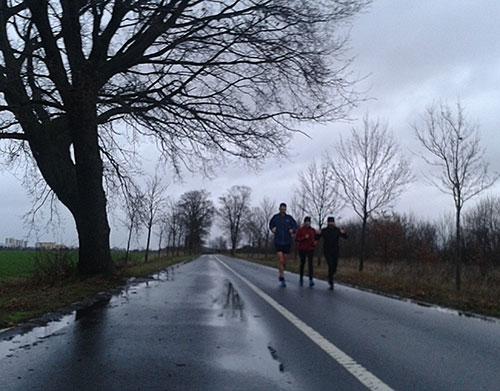 Läufer bei Regenwetter