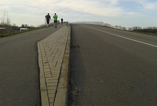 Brückenanstieg
