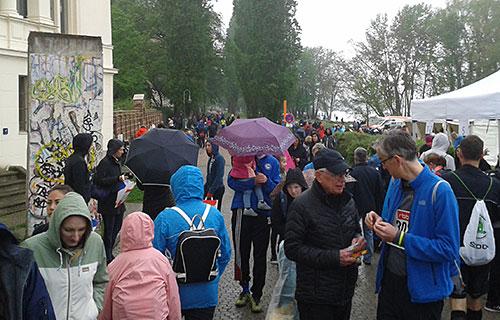 Regenwetter beim Potsdamer Drittelmarathon 2019