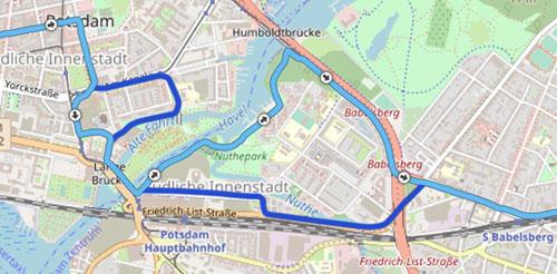 Vergleich alte Strecke und neue Streckendetails Potsdamer Drittelmarathon 2019