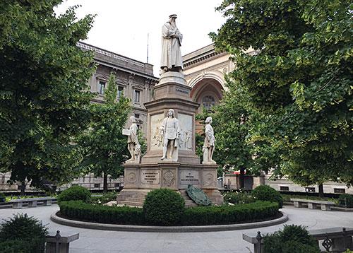 Denkmal Leonardo da Vinci in Mailand