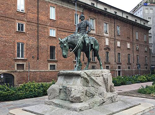 Denkmal Giuseppe Missori auf Pferd