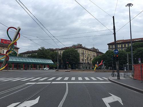 Kreuzung Piazzale Luigi Cadorna