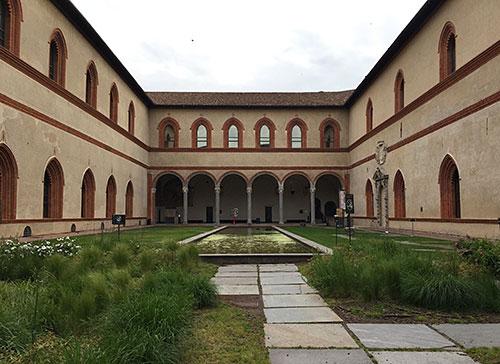 Innenhof Corte Ducale im Castello Sforzesco