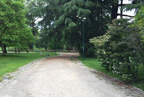 Weg im Parco Sempione (Simplonpark)