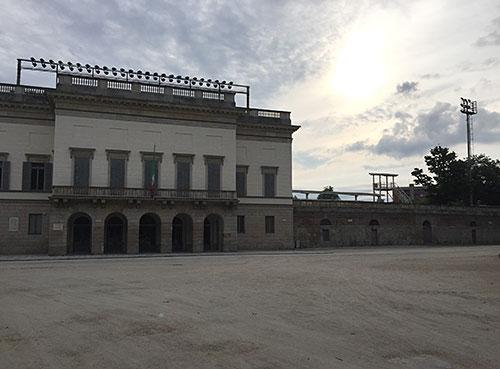 Arena Civica Gianni Brera im Morgenlicht