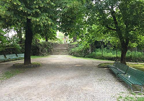 Parkweg im Giardini Pubblici Indro Montanelli