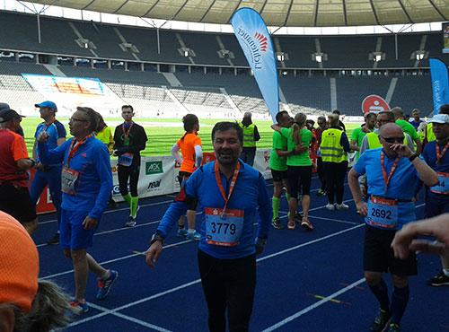 Läufer im Ziel