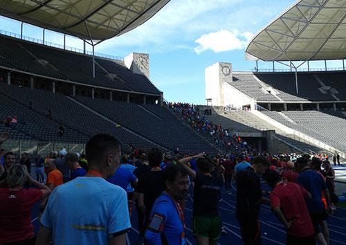 Blick auf die Treppe hinauf zum Marathontor
