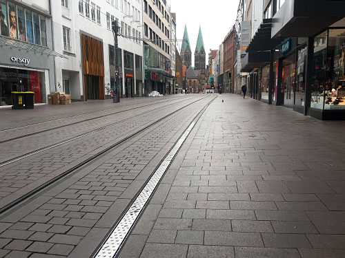 Blick in die Obernstraße