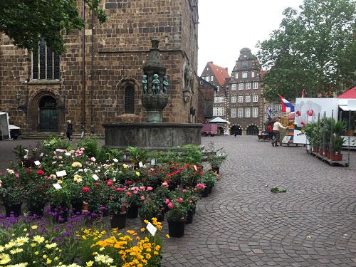 Blumenmarkt auf dem Kirchhof Unser Lieben Frauen