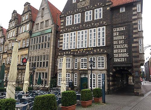 Alte Häuser am Bremer Marktplatz