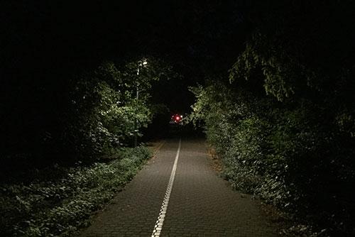 Beleuchteter Parkweg