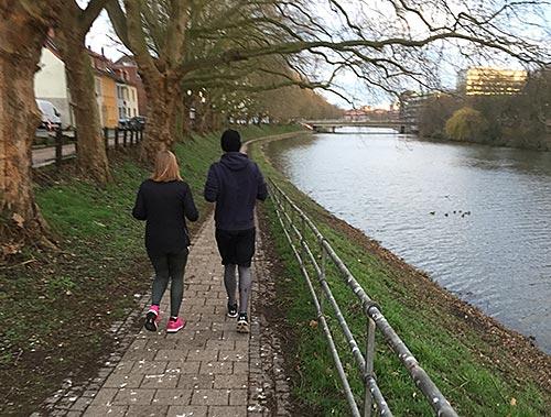 Läufer an der kleinen Weser