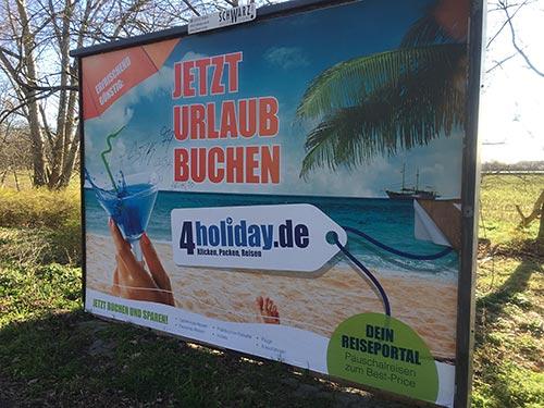 """Plakat """"Jetzt Urlaub buchen"""""""