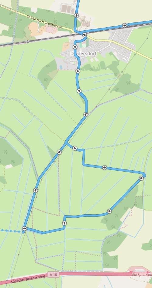 Streckendetail Diedersdorf Genshagen