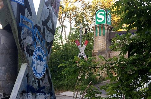 S-Bahn-Schild Buckower Chaussee