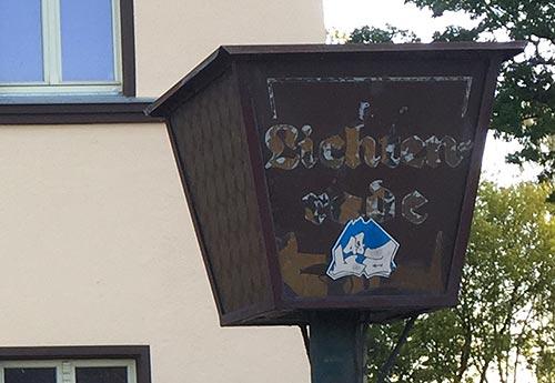 Alte Laterne mit Schriftzug Lichtenrade