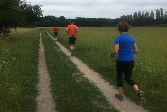 Läufer auf Pfad in der Marienfelder Feldmark