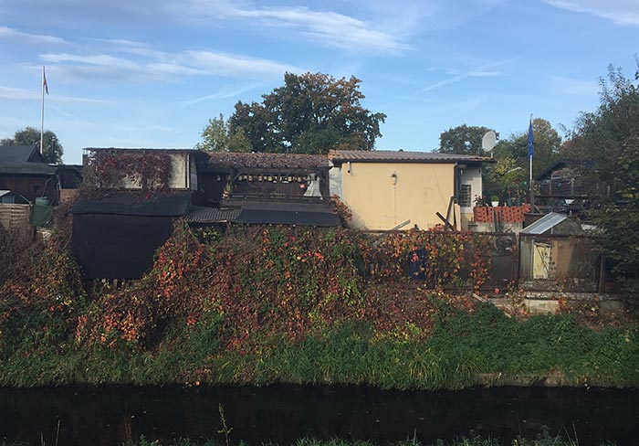 Kleingarten-Hütten an der Panke