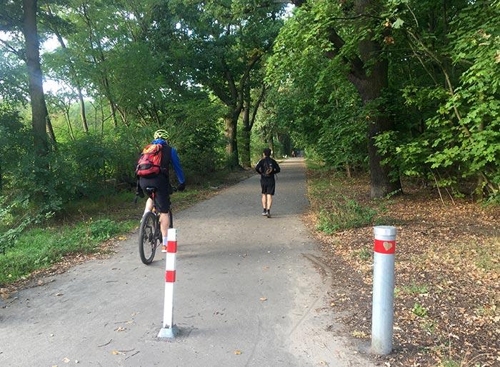 Läufer und Radbegleiter auf dem Königsweg