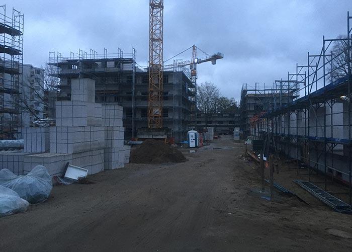 Blick in das Neubau-Areal