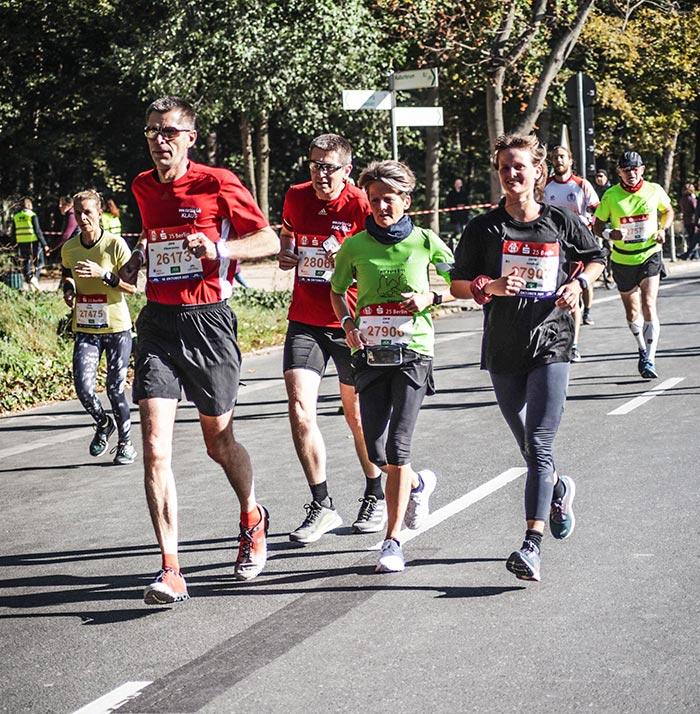 Läufergruppe am Tiergarten