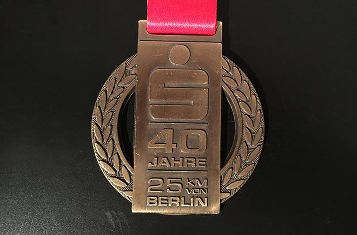 Medaille des S25 von 2021: 40 Jahre 25 km von Berlin